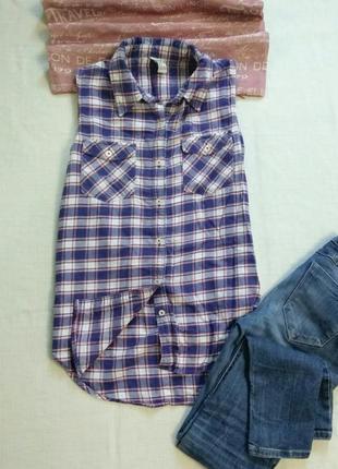 Рубашка жилетка от forever 21 размер s