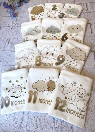Набор из 12 боди для малышей.