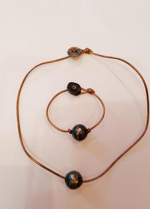 Комплект набор браслет и чокер h&m