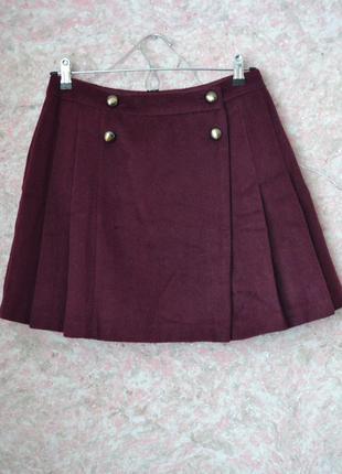 1+1=10% cкидка на всю одежду. крутая тёплая юбка на запах с элементом плиссировки
