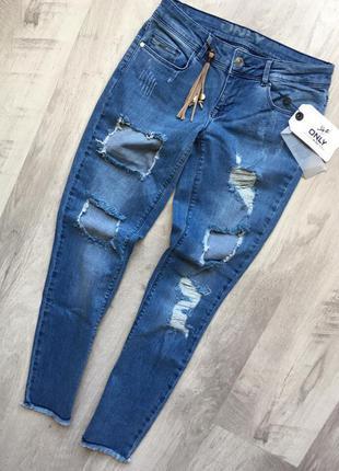Трендовые джинсы с дырками only