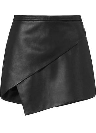 Актуальная асимметричная кожаная юбка h&m