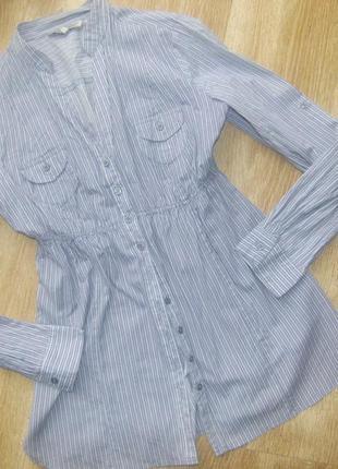 Хлопковая блуза - рубашка