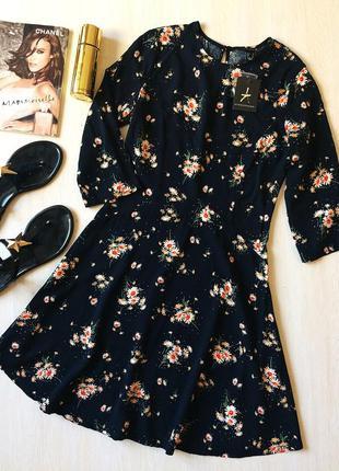 Новое с биркой платье в цветочек с юбкой-солнце атм, s