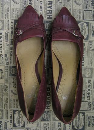 Кожаные туфли-лодочки brooks brothers