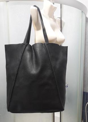 Poolparty city bag нат. кожа.большая сумка шоппер.