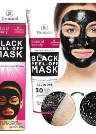 Чорна маска dermacol