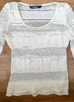Блуза кружевная размер s