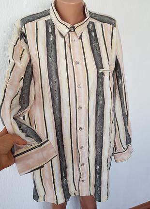 П+100% льон !!! шикарна блуза!!