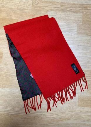 Rіnaldo carelli двухсторонний шарф шерсть(махер)/ шёлк