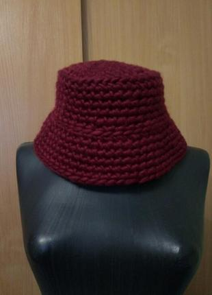 Вязаная панама, шапка
