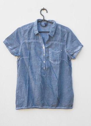 Летняя легкая хлопковая блузка с коротким рукавом