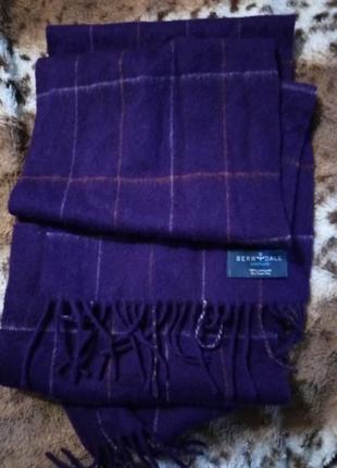 3 дня!шотландский шерстяной шарф клетка ламбсвул