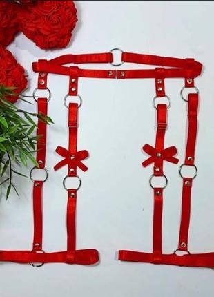 Портупея, портупея на ноги, подвязки, эластичная портупея, стрепы