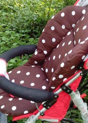 Матрасик (вкладыш) в коляску, стульчик для кормления, автокресло