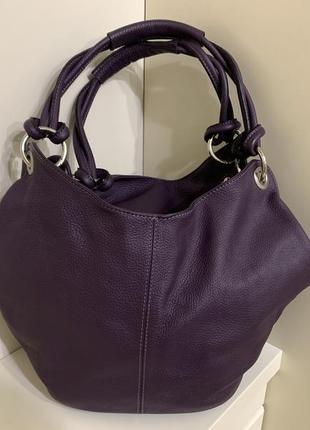 Кожаная сумка genuine leather bag made in italy