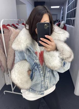 Джинсовая куртка с мехом, джинсовая парка с мехом