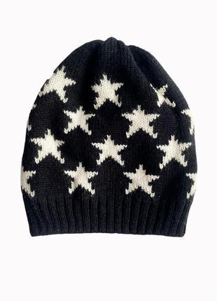Детская двойная трикотажная шапка в звёздах. нидерланды.