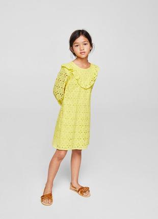 Платье бренд mango, размер 7-8лет