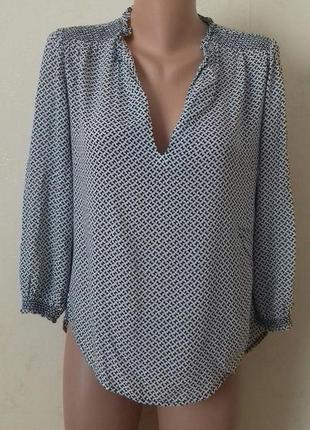 Легкая вискозная блуза с принтом
