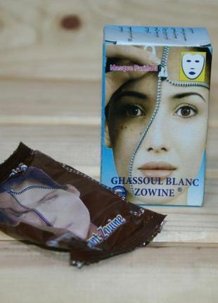 Марокканская белая глина гассул ghassoul / rhass oul для пилинга лица hammam spa 20 гр.