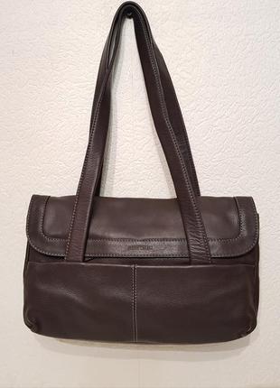 Породистая красивая кожаная сумка gerry weber шоколадного цвета германия