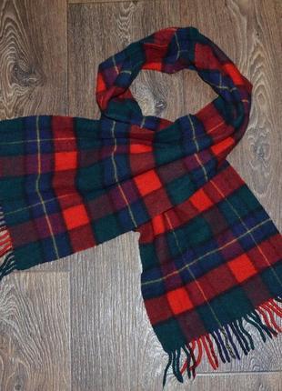 Шотландский шерстяной шарф. длина 145см.