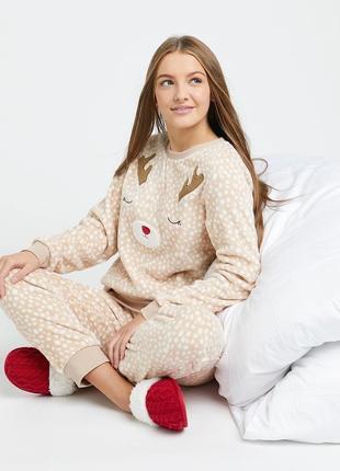 Пижама из пушистого флиса dunnes, англия. размеры s, m, l