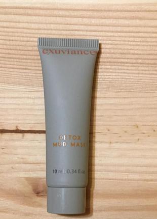 Глубокоочищающая маска для кожи лица exuviance detox mud charcoal mask 10 мл