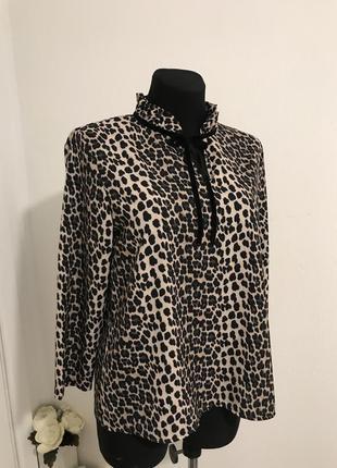 Шикарна блуза 😍 блуза в тваринний принт / клеопатровий принт / ликвидация 🔥