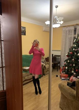 Платье теплое vdp шерсть оригинал розовое бренд