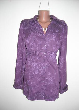Блузка s.olever фиолетовая ткань хлопок.стильная