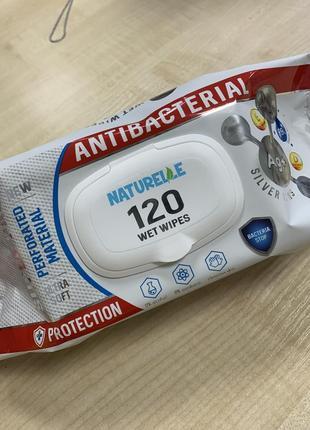 """Серветки вологі антибактеріальні """"naturellе"""" 120шт"""