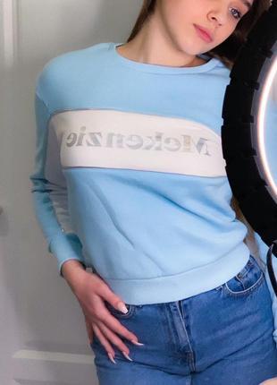 Тепленька толстовка ніжно-голубого кольору