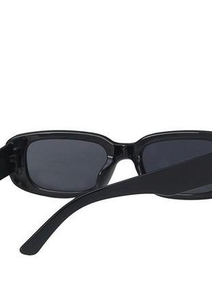 Модные солнцезащитные очки черные узкие ретро очки 70035 фото
