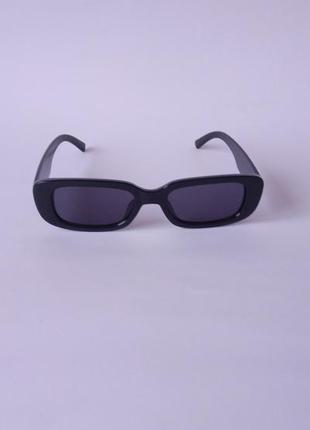 Модные солнцезащитные очки черные узкие ретро очки 70038 фото