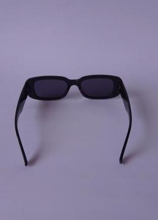 Модные солнцезащитные очки черные узкие ретро очки 700310 фото