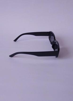 Модные солнцезащитные очки черные узкие ретро очки 70039 фото