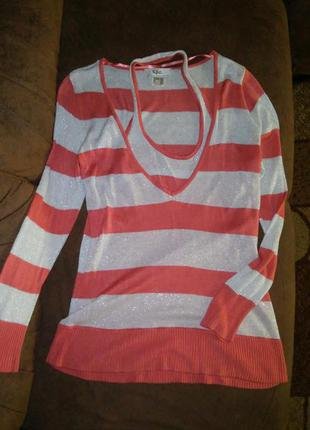 Женский пуловер с имитацией двух вещей