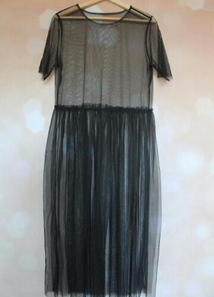 Сетка платье футболка сетка прозрачная длинная в пол ZARA, цена ... baf515173dd