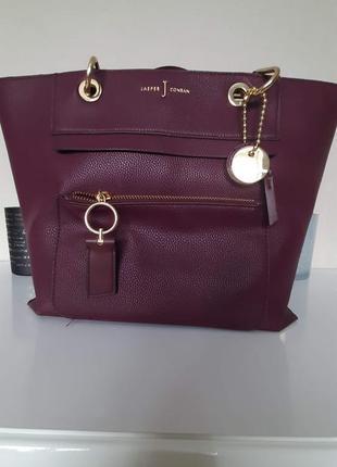 Jasper conran вместительная сумка шикарного цвета marsala / марсала