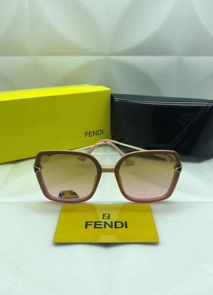 Солнцезащитные очки в стиле fendi ❤с защитой в градиенте чайной розы 🌸