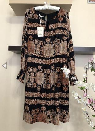 Шикарное, дорогое м очень стильное платье вискоза свободного кроя,
