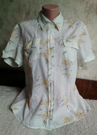 Летняя блуза /блузка/ рубашка в желтый цветочек