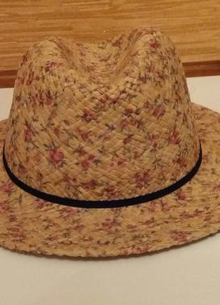 Соломенная шляпка шляпа accessoires c&a германия, нюанс!