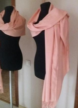 Теплая пашмина шаль шарф кашемир вискоза турция
