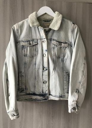 Джинсовка утеплённая, джинсовый пиджак, джинсовая куртка