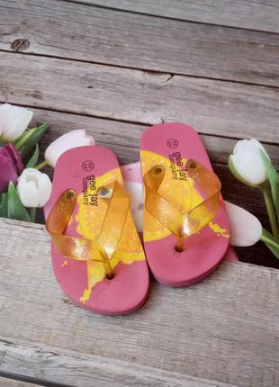 Шльопанці на пляж, в'єтнамки для дівчинки2 фото