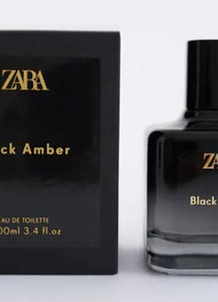 Духи zara black amber