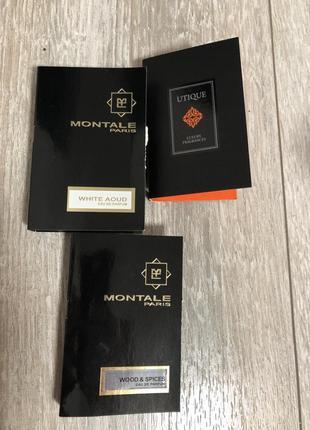 Набор montale white aoud и wood&spiced пробники парфюмерии utique luxury fragrances